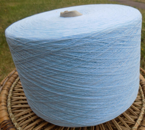 Fusion Knitting Machine Yarn 2/30 2 Kilos Acrylic / Cotton Sky Blue IND22.09